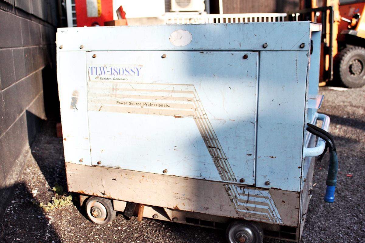 中古 Denyo デンヨー ディーゼルエンジンウェルダー TLW-180SSY 溶接機/発電機 _画像4