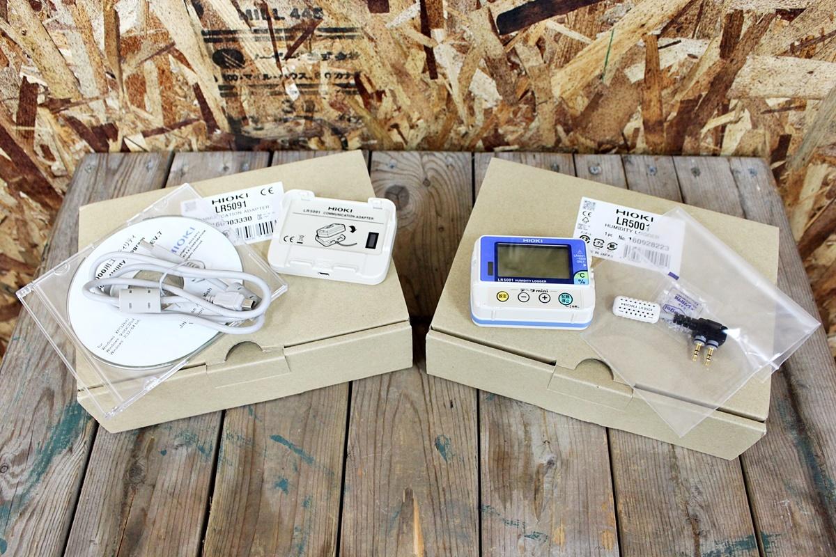 未使用 HIOKI 日置電機 温湿度ロガー LR5001 通信アダプタ LR5091 セット品 ②