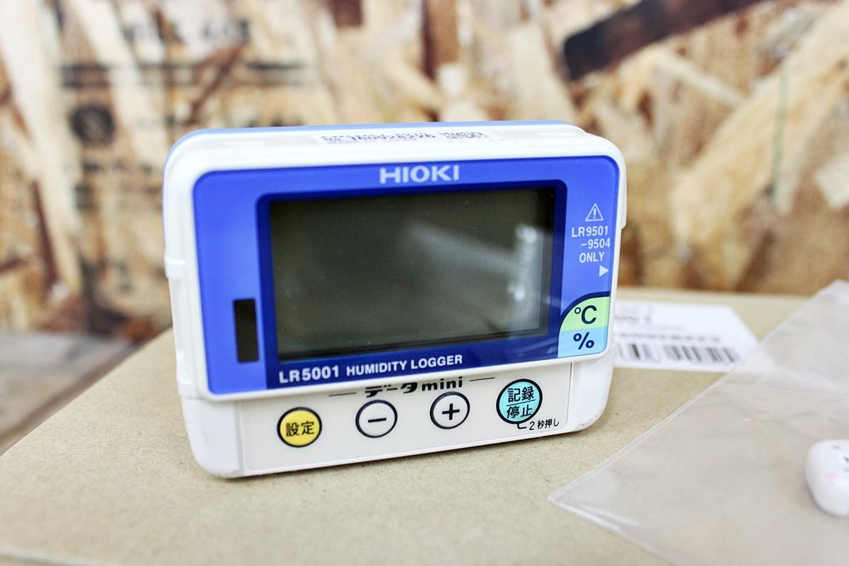 未使用 HIOKI 日置電機 温湿度ロガー LR5001 通信アダプタ LR5091 セット品 ②_画像3