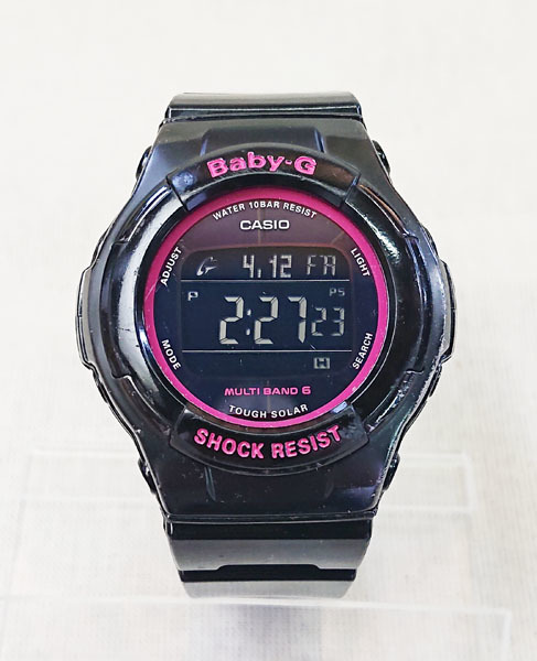 81fa949f90 代購代標第一品牌- 樂淘letao - ☆CASIO カシオBaby-G BGD-1310-1JF 電波ソーラーデジタル腕時計レディース中古☆