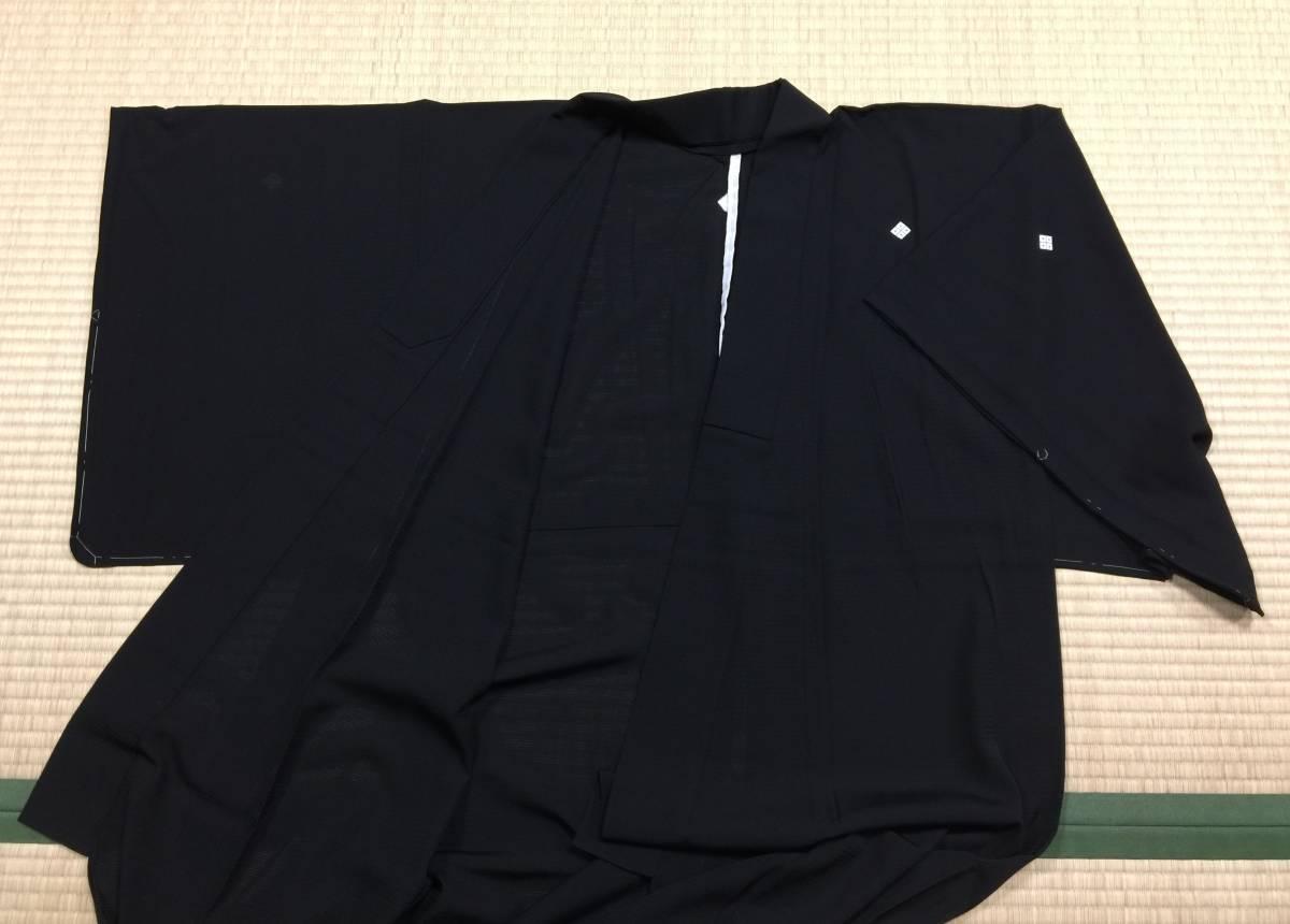 夏用 黒喪服 正絹 絽 Mサイズ 前巾広め 身丈161.5 裄65 未着用美品 家庭保存_画像2