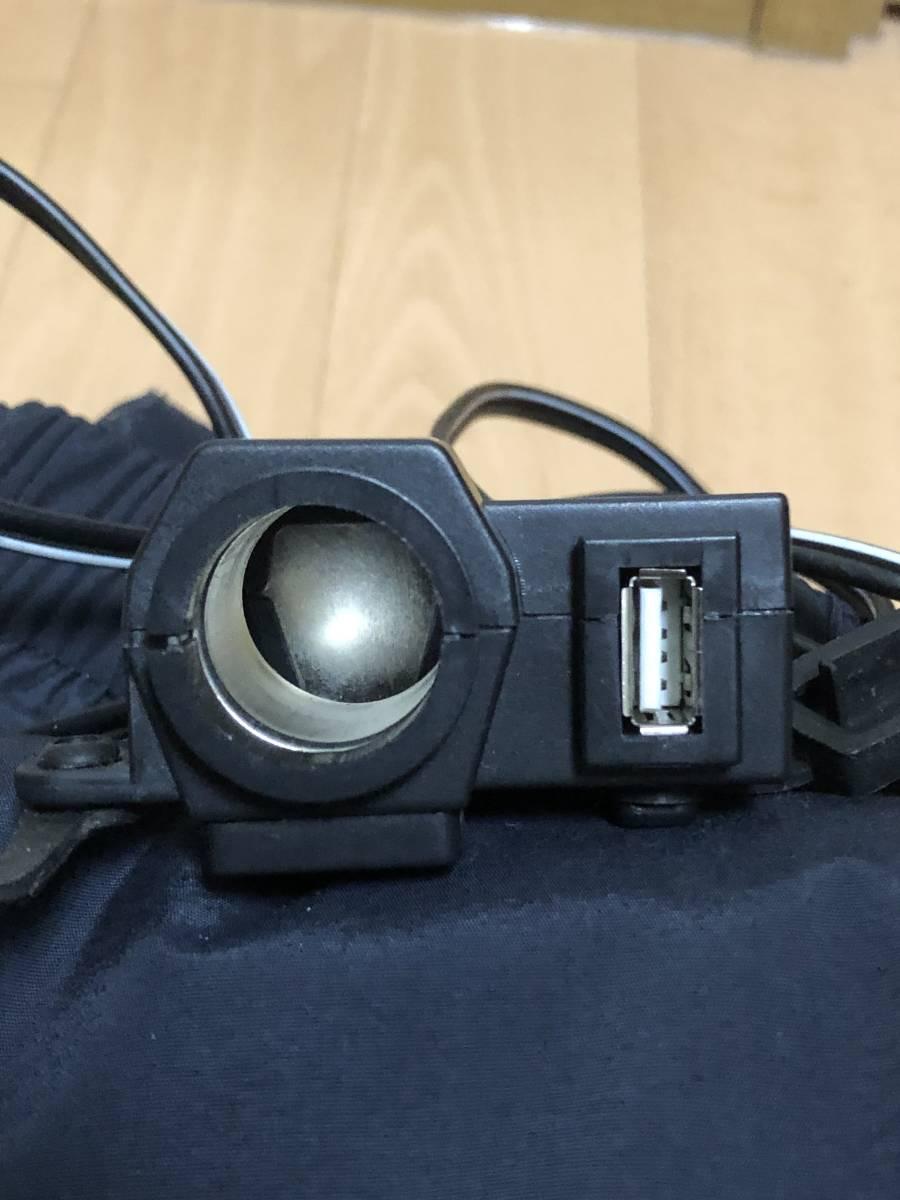 【1円スタート ツーリングセット】シートバック、ニーガード、USB シガーソケット、オーバーパンツ_画像7