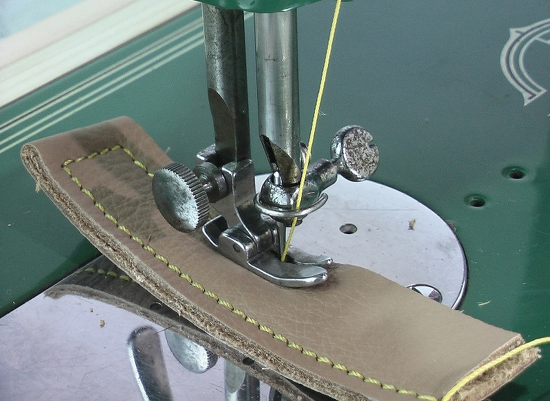 革・厚物用ミシン ハンドル駆動のカスタム調整 工業用よりもコンパクト#218_画像8
