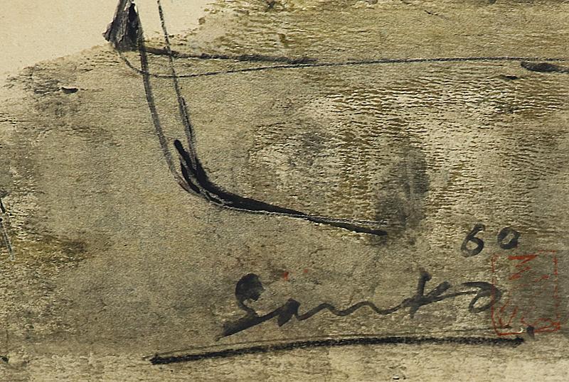真作保証 井上三綱10号牛 トヨタ旧蔵作名典300万イサムノグチも認めた「伝統を濾過した抽象画」最高傑作ArtNetウィキペディア掲載_画像3