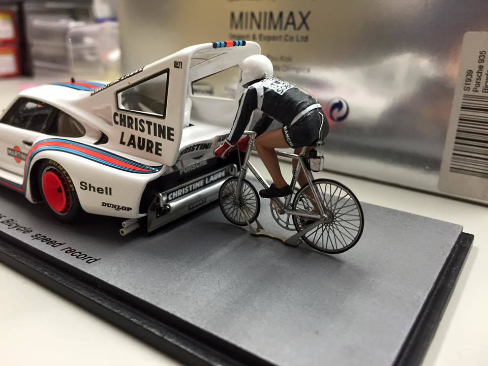 【即決】スパーク 1/43 ポルシェ 935 Bicycle speed record マルティーニ NO.1_撮影見本