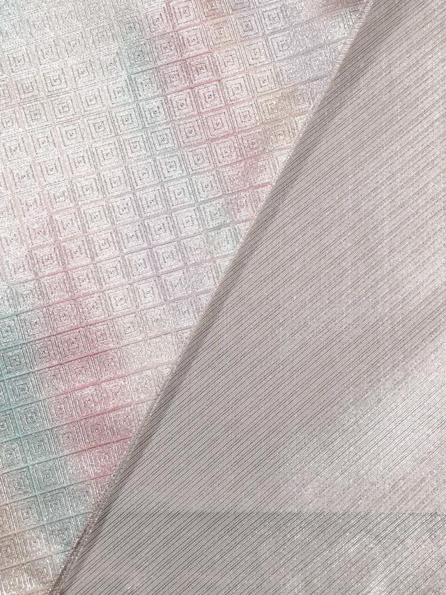 【山中織物】幾何にぼかし文 佐賀錦 西陣織 袋帯 TADL02003風楽_画像5