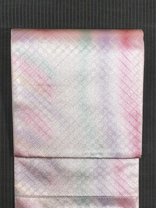【山中織物】幾何にぼかし文 佐賀錦 西陣織 袋帯 TADL02003風楽_画像4