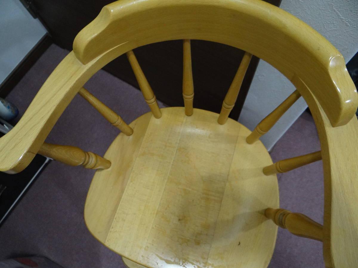 本物 キツツキマーク飛騨家具 ベビー チェア 子供椅子レトロ アンティーク ビンテージ