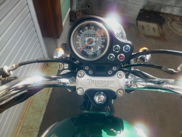 トライアンフ ボンネビル 個人出品 札幌 初期型モデル 865cc エンジン載せ換え公認_画像4