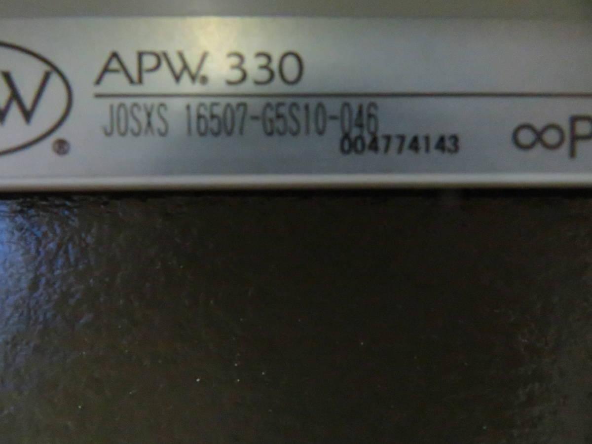NT041312 YKKAPW330 すべり出し窓 右勝手 グレモンハンドル アングル付 サッシコード SXS16507-G5 直接引き取りのみ 展示品_画像2