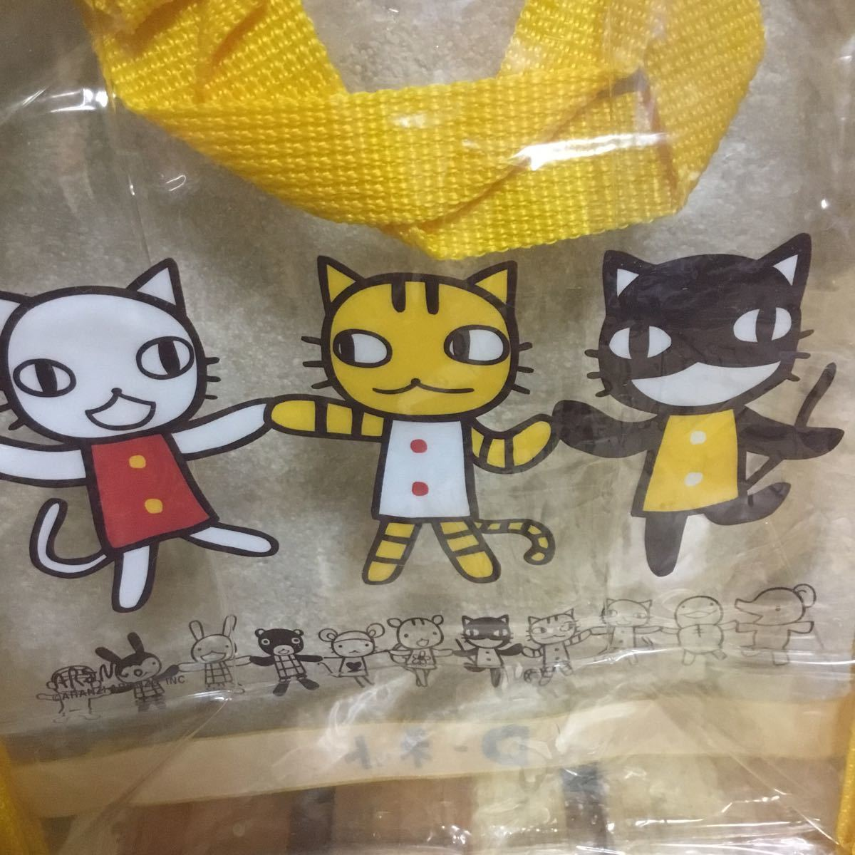 アランジアロンゾ 猫クリアバッグ 大和銀行_画像3