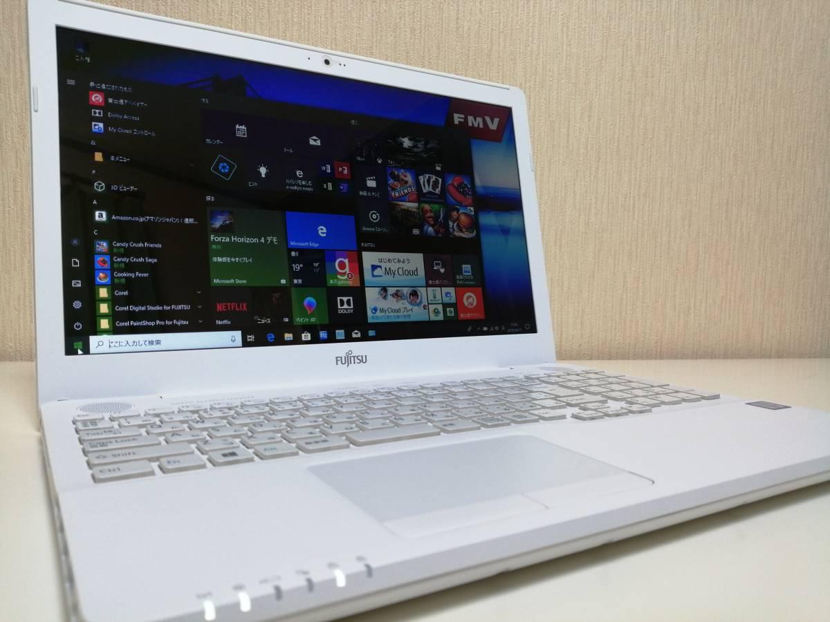 ほぼ未使用/2017年製/新品5年保証V-NANDSSD500GB/1TBHDD/Win10/8GB/Core i7-6700HQ/MS,officePremium2016/USB3.0/Bluetooth/HDMI/AH50