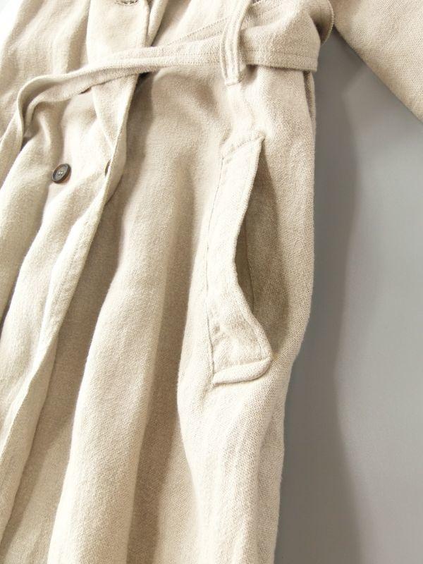ネストローブ nest Robe 日本製 リネン100% ベルテッド トレンチコート♪ スプリングコート♪_画像4