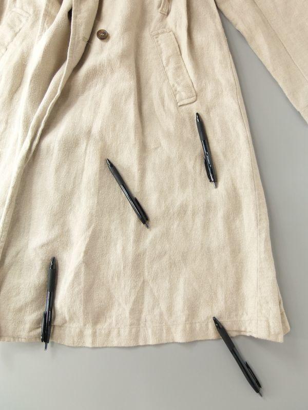 ネストローブ nest Robe 日本製 リネン100% ベルテッド トレンチコート♪ スプリングコート♪_画像8
