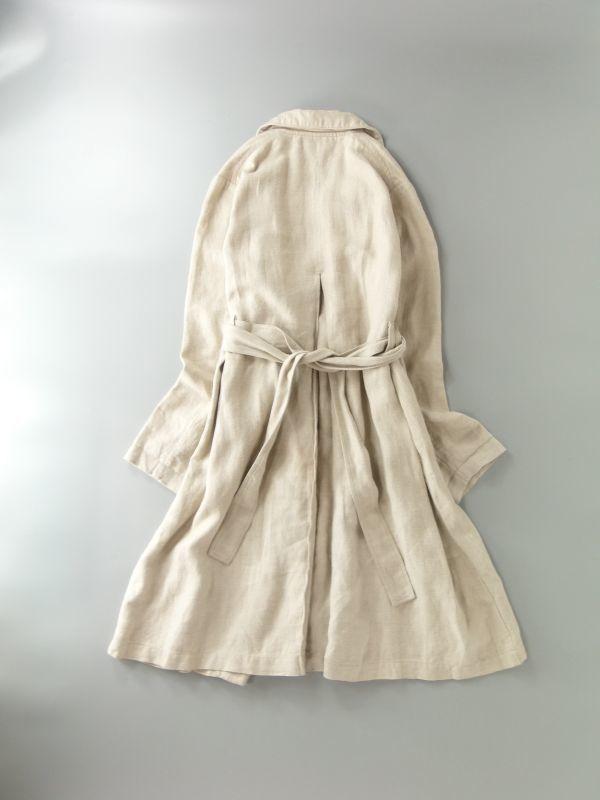 ネストローブ nest Robe 日本製 リネン100% ベルテッド トレンチコート♪ スプリングコート♪_画像6
