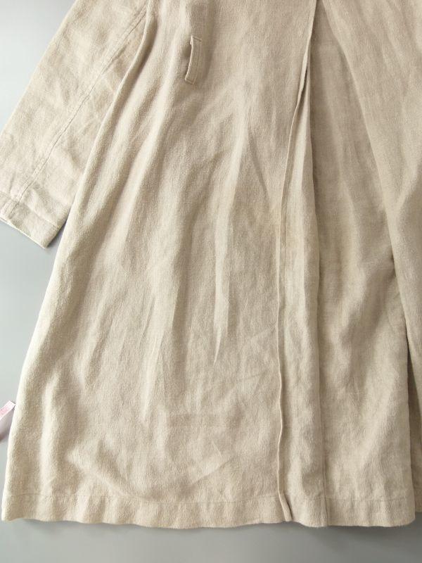 ネストローブ nest Robe 日本製 リネン100% ベルテッド トレンチコート♪ スプリングコート♪_画像9