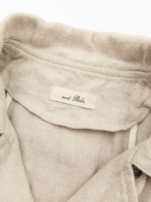 ネストローブ nest Robe 日本製 リネン100% ベルテッド トレンチコート♪ スプリングコート♪_画像2