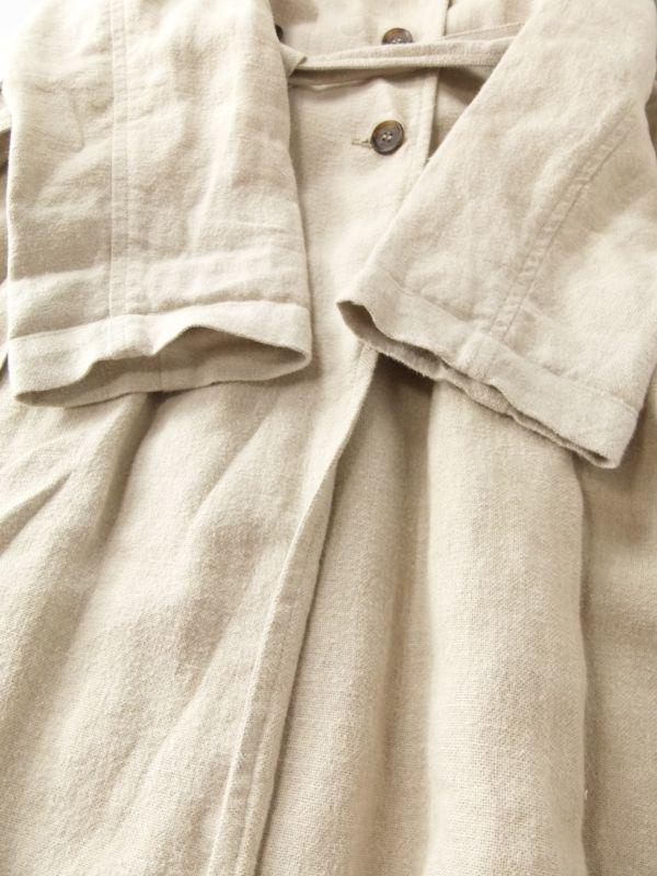 ネストローブ nest Robe 日本製 リネン100% ベルテッド トレンチコート♪ スプリングコート♪_画像3