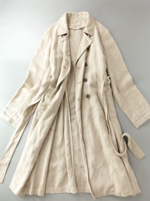 ネストローブ nest Robe 日本製 リネン100% ベルテッド トレンチコート♪ スプリングコート♪_画像5