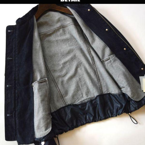 ◆コムサメンベータ(COMME CA MEN β)◆店頭最新作 定価44.280円 ライダースデニムジャケット Lサイズ 06BI01_画像2