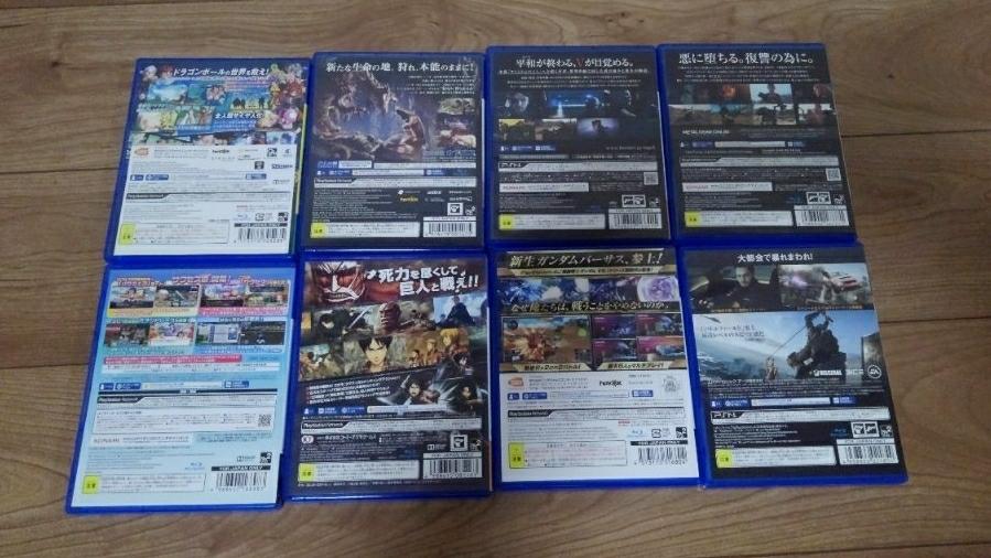 PS4 ソフトセット☆14本!GWはこれで!モンハン FF15 FIFA ウイイレ メタルギア ガンダム ドラクエ 進撃の巨人 パワプロ COD BF 等々_画像3