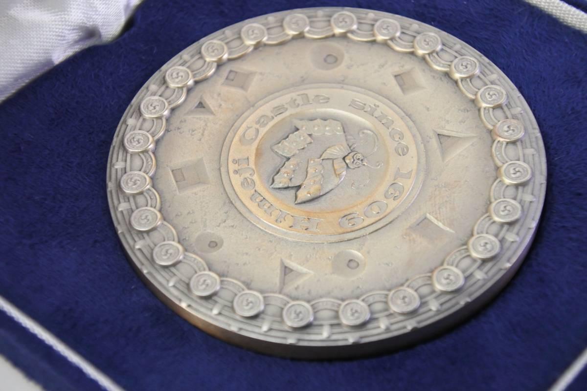 純銀 国宝章牌 姫路城 造幣局製造 約160g 極珍品_画像3