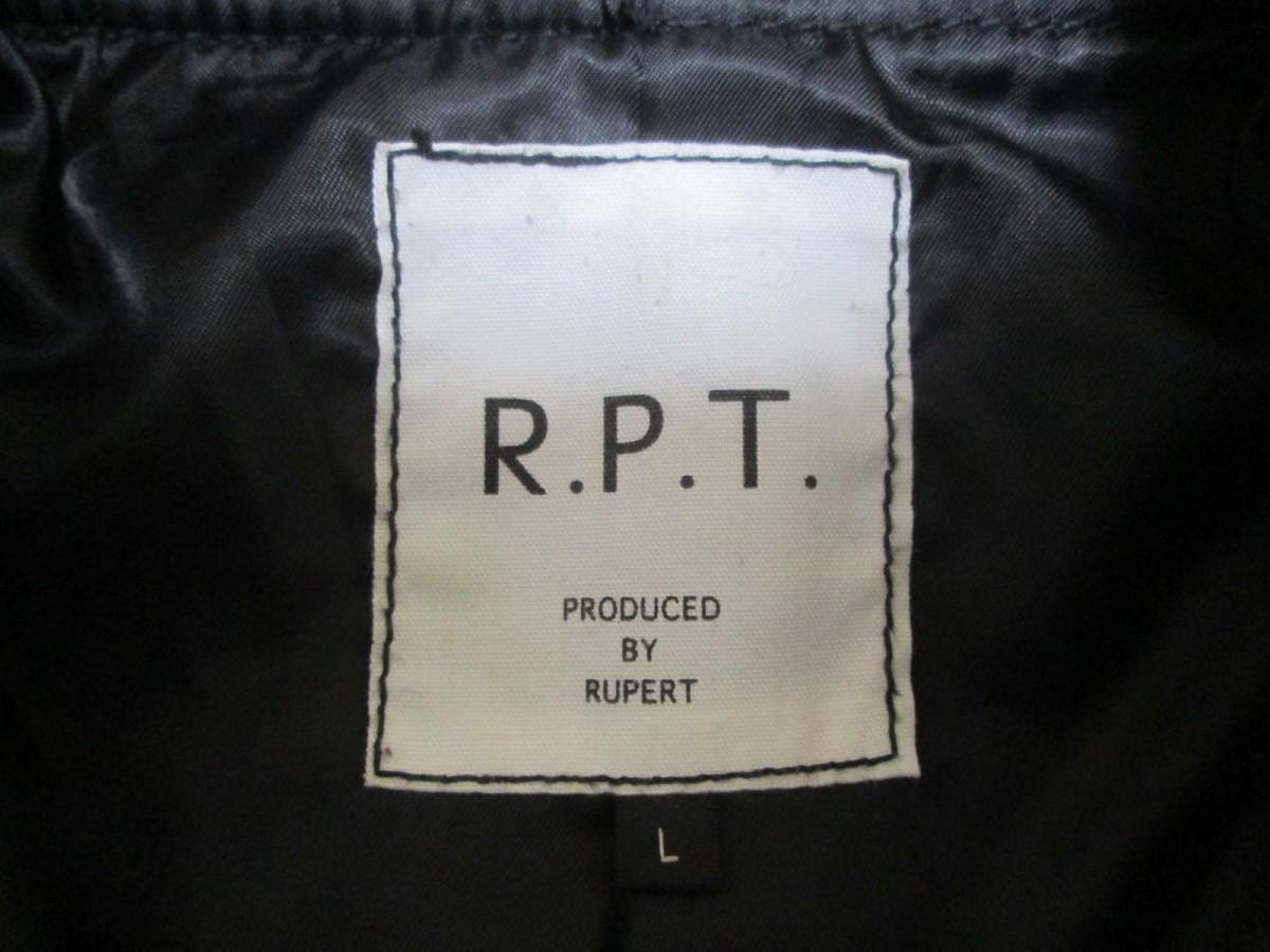 ★美品★R.P.T ルパート 牛革 ショルダーレザー切り替え ウール ジャケット_画像5