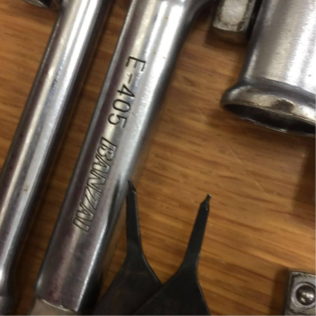 ☆工具 自動車整備 大量まとめ ドライバー ラチェット ソケット はんだごて プライヤー 16.8kg Snap-on KTC Banzai MAC-Tools CRAFTSMAN 他_画像7