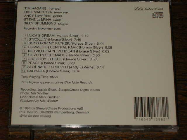 【アンディ・ラヴァーン・クインテット/ホレス・シルバーに捧ぐ】ビリー・ドラモンド他 ★23年前発売CD★超希少★1996年輸入美盤★名盤_画像2