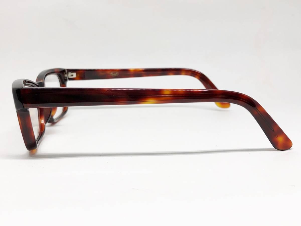 希少 《 Opticien Loyd / 廃盤 》 美品 【 オプティシアンロイド LOD-07 ウェリントン デミ 眼鏡 日本製 ケース付属 】_画像2