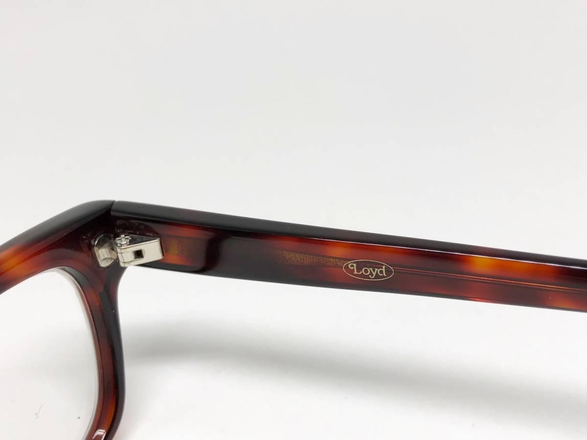 希少 《 Opticien Loyd / 廃盤 》 美品 【 オプティシアンロイド LOD-07 ウェリントン デミ 眼鏡 日本製 ケース付属 】_画像4