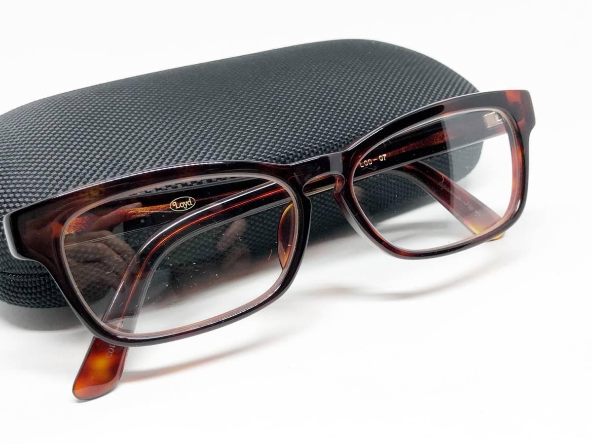 希少 《 Opticien Loyd / 廃盤 》 美品 【 オプティシアンロイド LOD-07 ウェリントン デミ 眼鏡 日本製 ケース付属 】_画像8