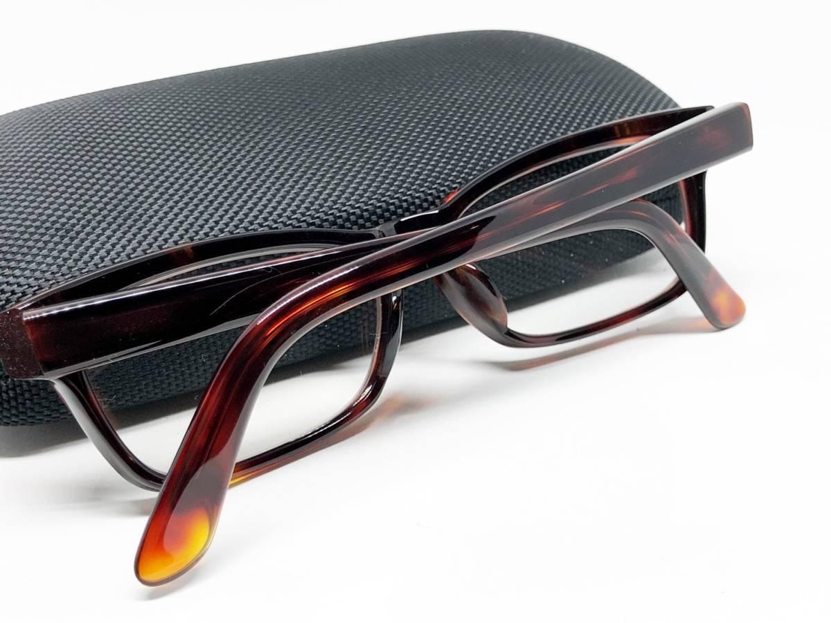 希少 《 Opticien Loyd / 廃盤 》 美品 【 オプティシアンロイド LOD-07 ウェリントン デミ 眼鏡 日本製 ケース付属 】_画像9