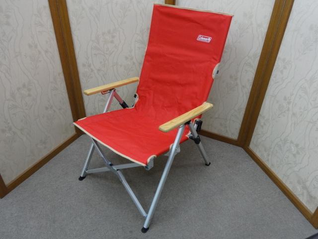 即決あり 美品 コールマン Coleman レイチェア  3段階 リクライニング チェア レッド キャンプ アウトドア 使用頻度少ない!