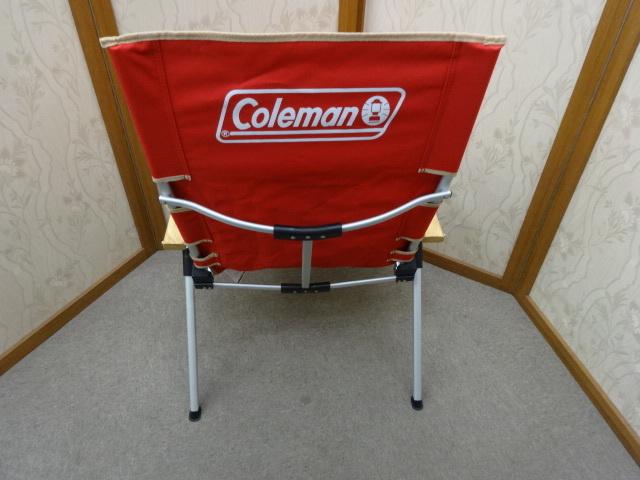 即決あり 美品 コールマン Coleman レイチェア  3段階 リクライニング チェア レッド キャンプ アウトドア 使用頻度少ない!_画像4