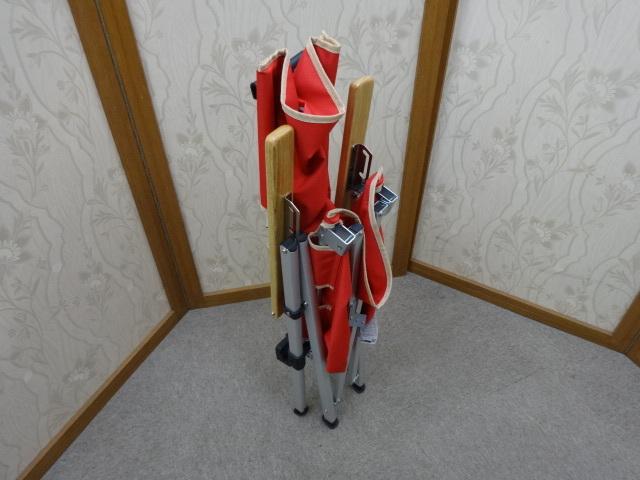 即決あり 美品 コールマン Coleman レイチェア  3段階 リクライニング チェア レッド キャンプ アウトドア 使用頻度少ない!_画像6