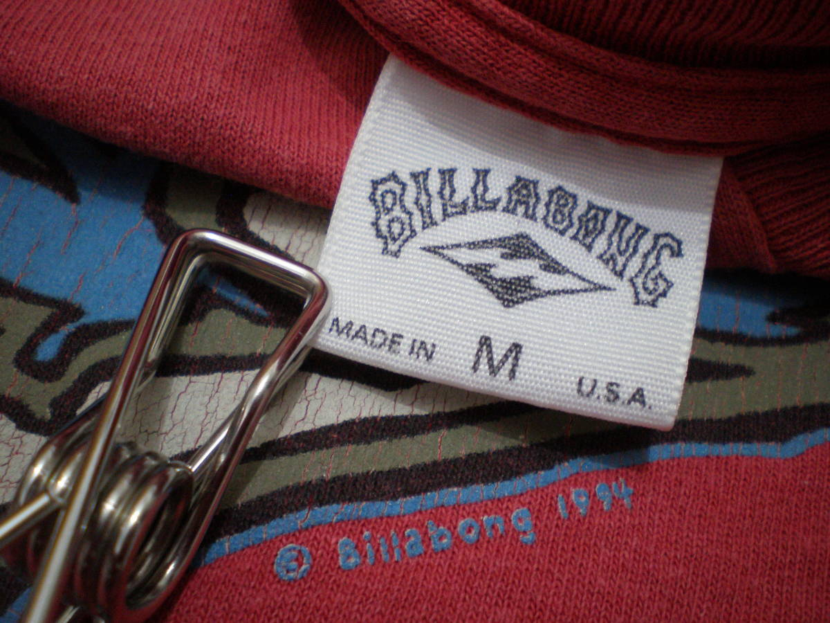 90's BILLABONG ビラボン オールド Tシャツ トップス Mサイズ サーフィン サーファー 波乗り マリン スポーツ オールドサーフ OLDSURF USA_画像5