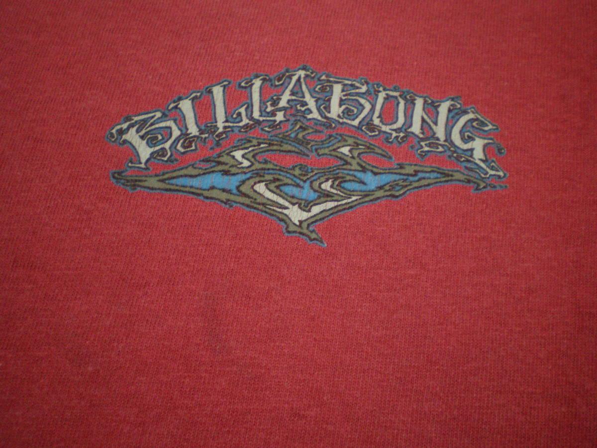 90's BILLABONG ビラボン オールド Tシャツ トップス Mサイズ サーフィン サーファー 波乗り マリン スポーツ オールドサーフ OLDSURF USA_胸です。ロゴ下に少し薄汚れあります。