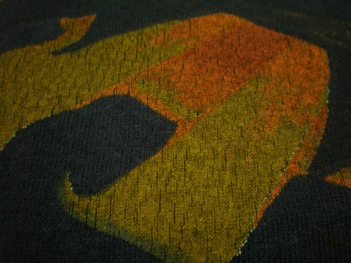 90's QUIKSILVER クイックシルバー オールド Tシャツ トップス Lサイズ サーフィン 波乗り マリン ビーチ スポーツ OLDSURF VINTAGE USA_プリント拡大です。