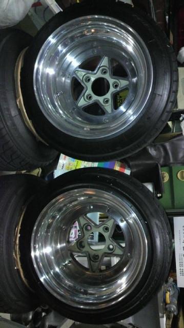 お宝 SSR スターファイブ 10J Aタイプ SP2000 225/40-14付き。スピードスター 深リム 街道レーサー_画像8
