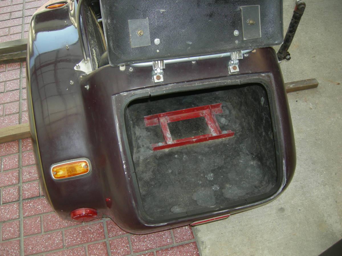 ★サイドカーのみ。大阪のMKオート製、RS。色は茶色系。_画像9