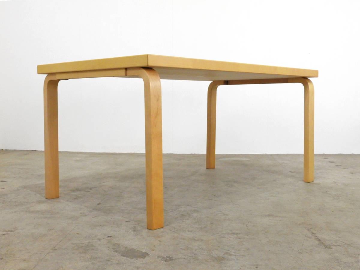 フィンランド artek社製 アルヴァ・アアルト ダイニングテーブル バーチ材 21万/北欧_画像2