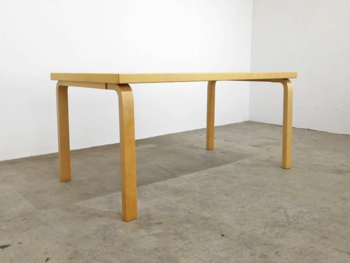 フィンランド artek社製 アルヴァ・アアルト ダイニングテーブル バーチ材 21万/北欧_画像4