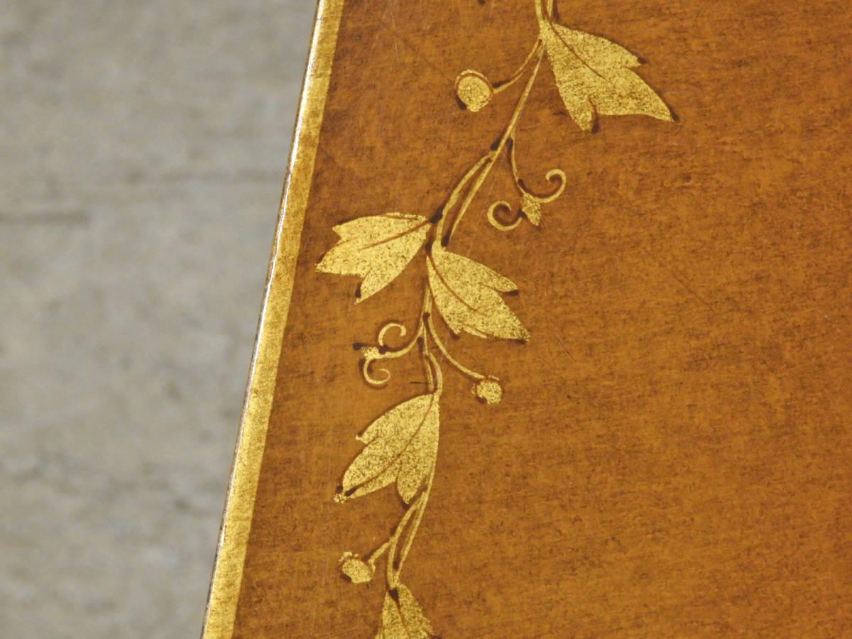 イタリア製 金彩装飾 10角形クラシックゲームテーブル/アンティーク ローテーブルドレクセル イギリス_画像3