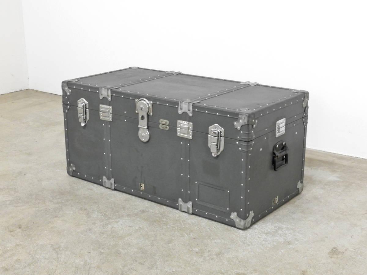 ヴィンテージ 船舶用スチーマートランク 鍵付き/アメリカ 古道具 店舗什器 収納 昭和レトロ アクメ