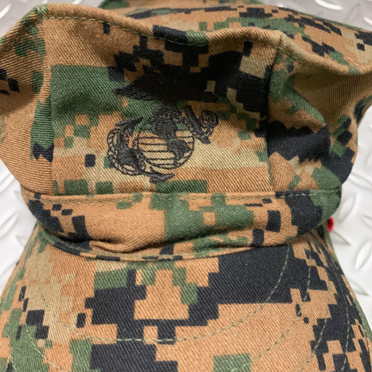 米軍 実物 新品 USMC 海兵隊 マーパット 帽子 サイズ L ミリタリーキャップ パトロールキャップ _画像2