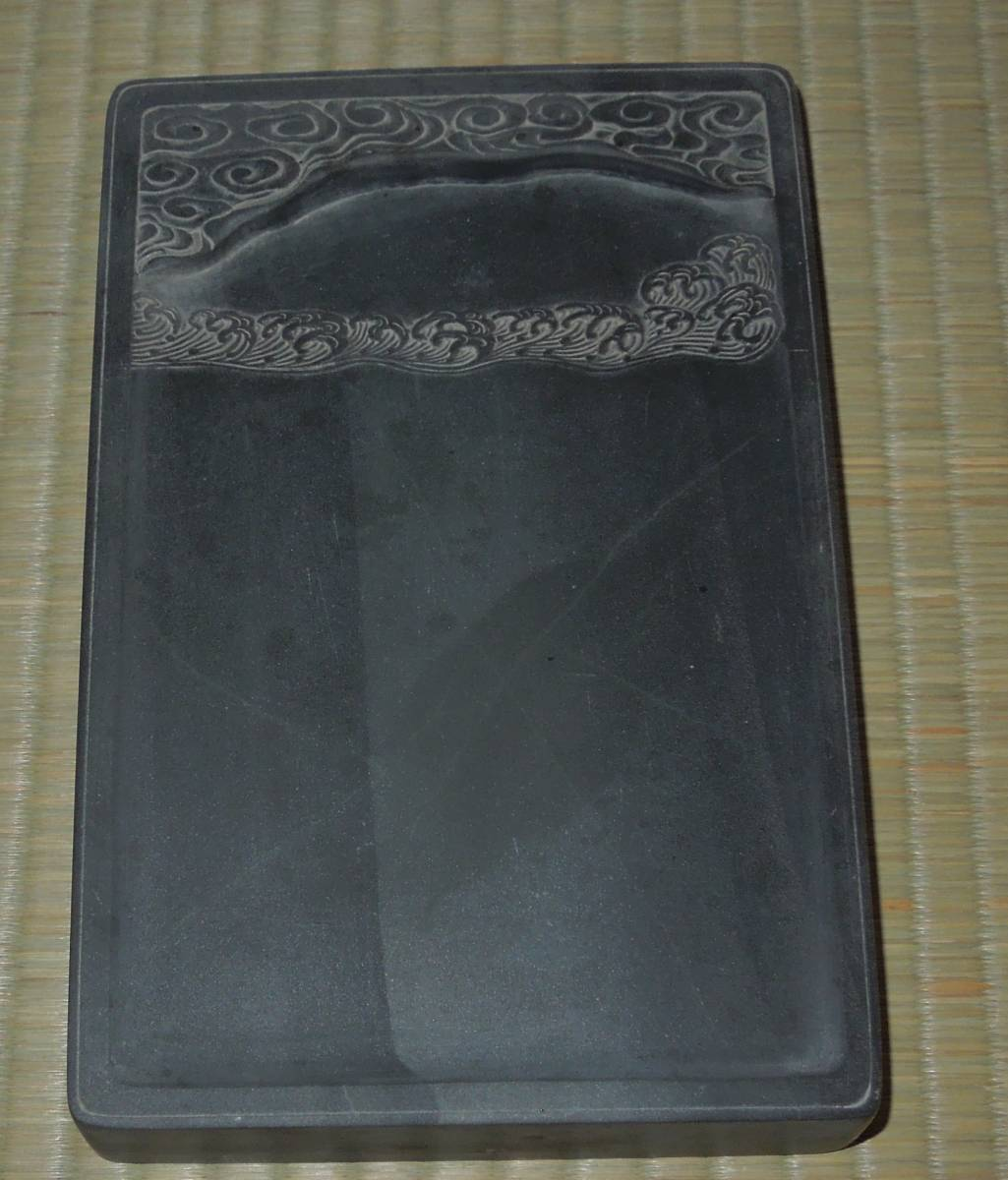 書道具  硯 古硯 歙州 金星・金暈 線綺麗 約18.9cm×12.3cm×2.8cm_画像2