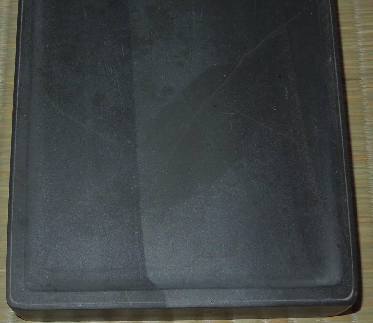 書道具  硯 古硯 歙州 金星・金暈 線綺麗 約18.9cm×12.3cm×2.8cm_画像4