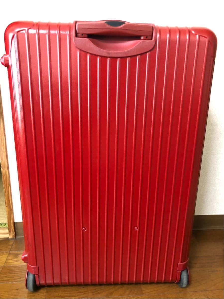 ★ 美品 リモワ RIMOWA サルサ SALSA 2輪 大型 104L トロリー 855.77 レッド RED ☆_画像5