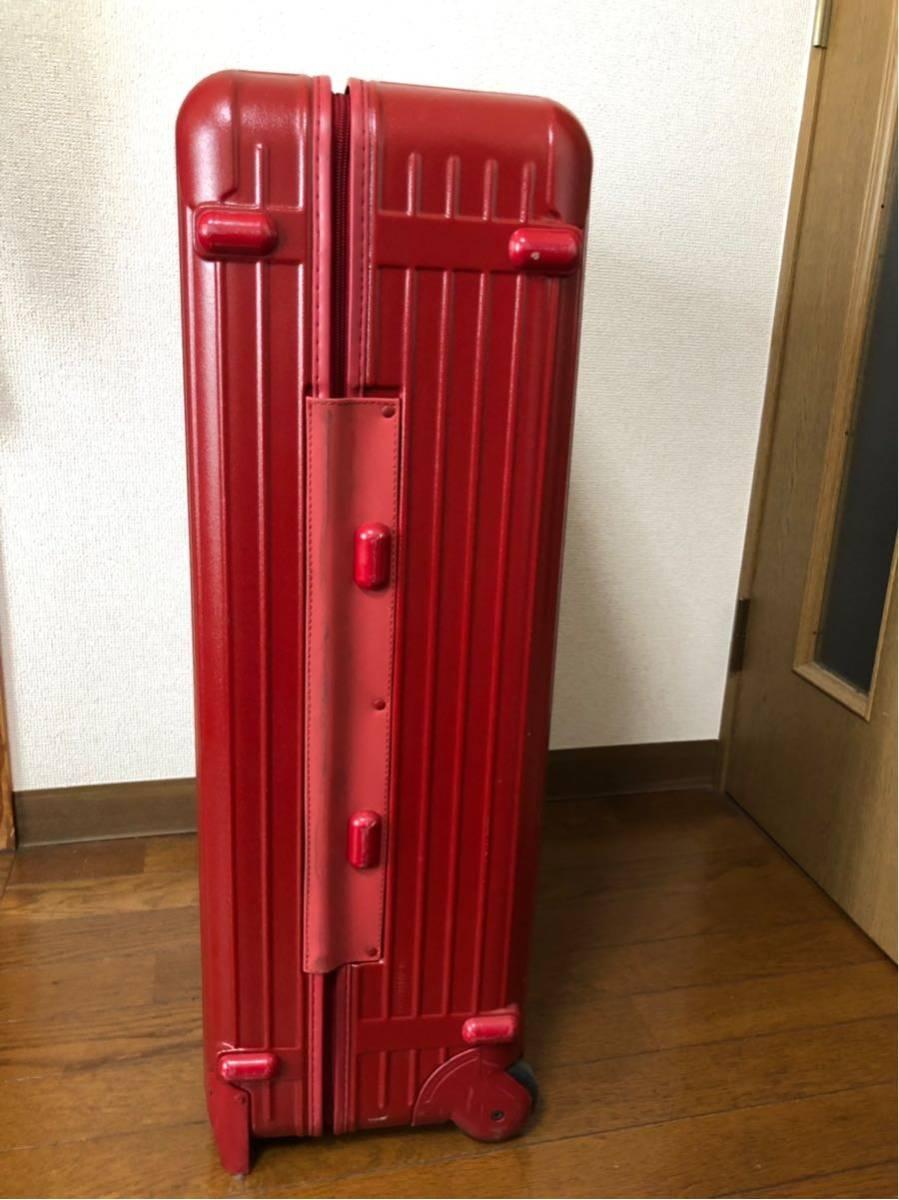★ 美品 リモワ RIMOWA サルサ SALSA 2輪 大型 104L トロリー 855.77 レッド RED ☆_画像6